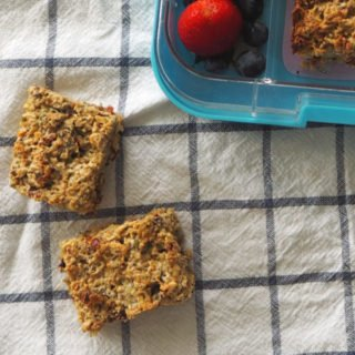 Seedy Muesli Slice Recipe. Both Regular and Thermomix instructions included.