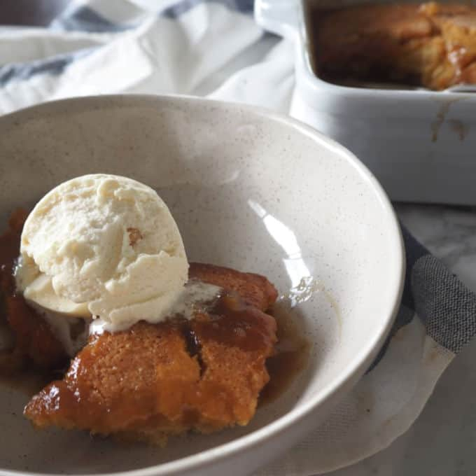 This Easy Self Saucing Butterscotch Pudding Recipe is the ultimate comfort dessert! Both regular and Thermomix instructions are included