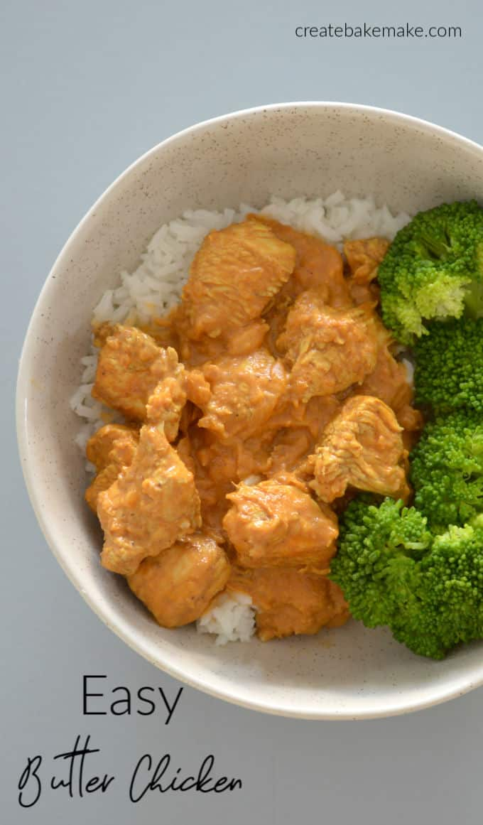 The BEST Easy Butter Chicken Recipe - Both regular and Thermomix instructions included.