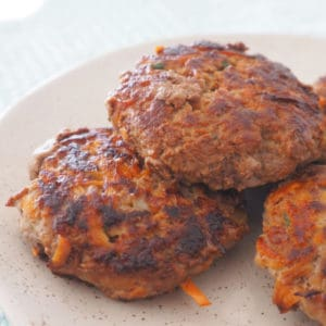 Beef Rissoles on a plate