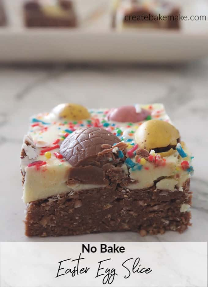 The Best No Bake Easter Egg Slice Recipe!
