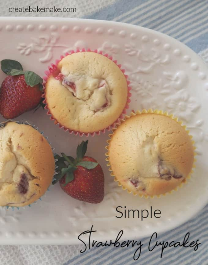 Easy Strawberry Cupcake Recipe with both regular and Thermomix instructions