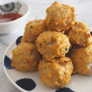 Baked Sweet Chilli Chicken Balls Recipe. Both regular and Thermomix instructions included.