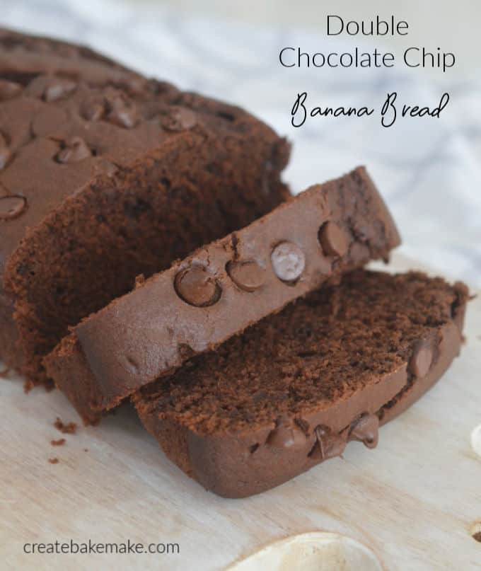 Double Chocolate Banana Bread Recipe with both regular and Thermomix instructions included.