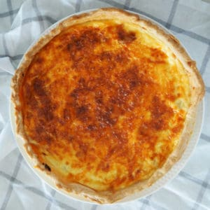 Easy Quiche Lorraine Recipe with both regular and Thermomix instructions included.