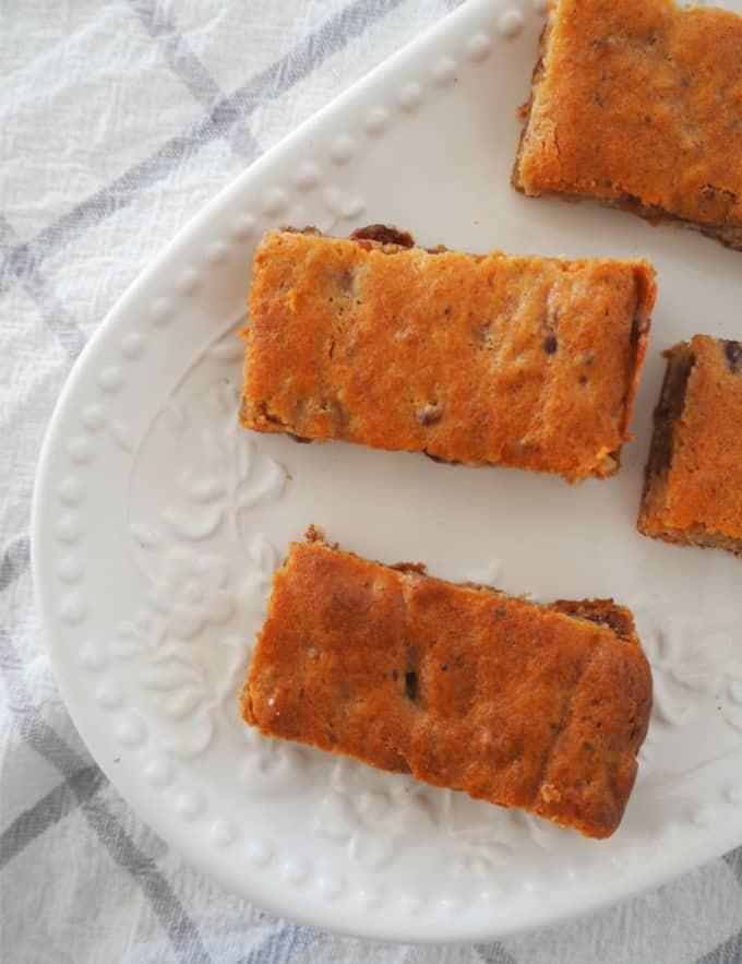Caramel Date Slice Recipe - top view