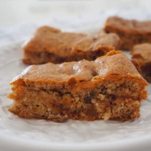 Caramel Date Slice Recipe Side View