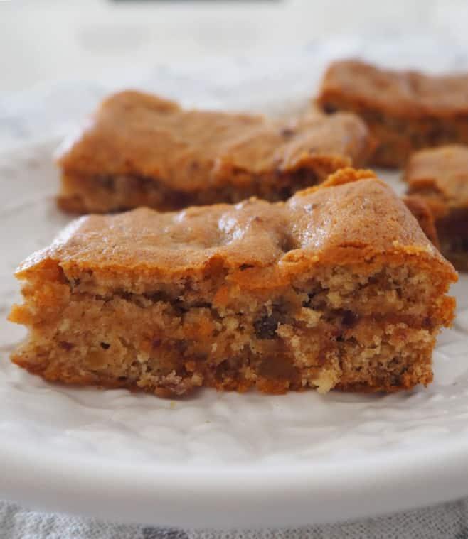 Caramel Date Slice Recipe - side view