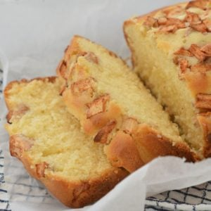 Apple and Cinnamon Loaf Image Top side view