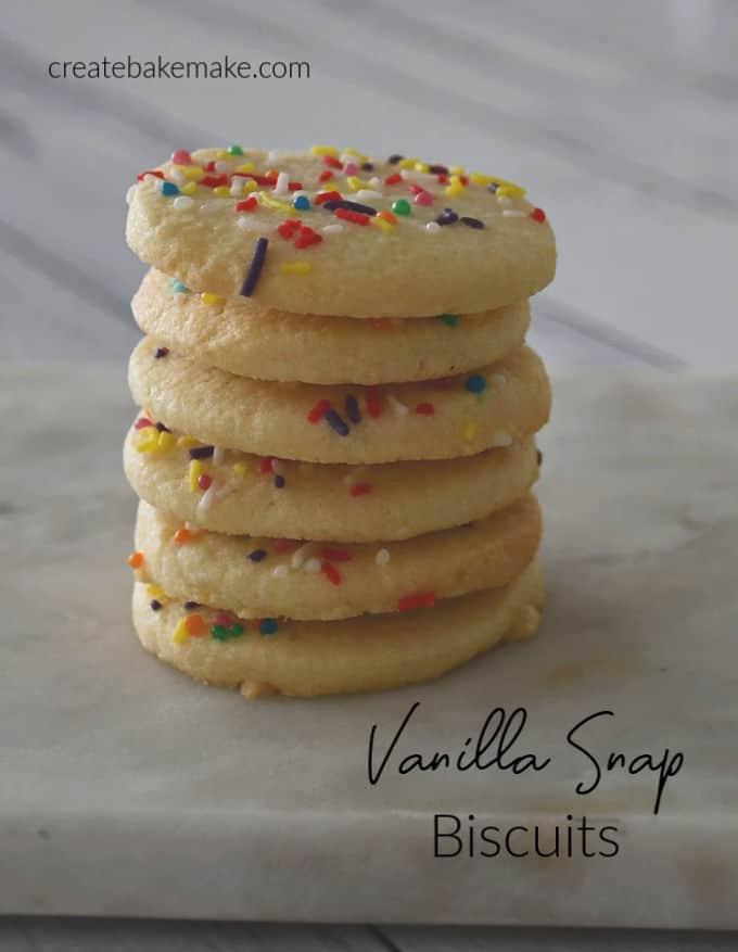 Vanilla Snap Biscuits side view