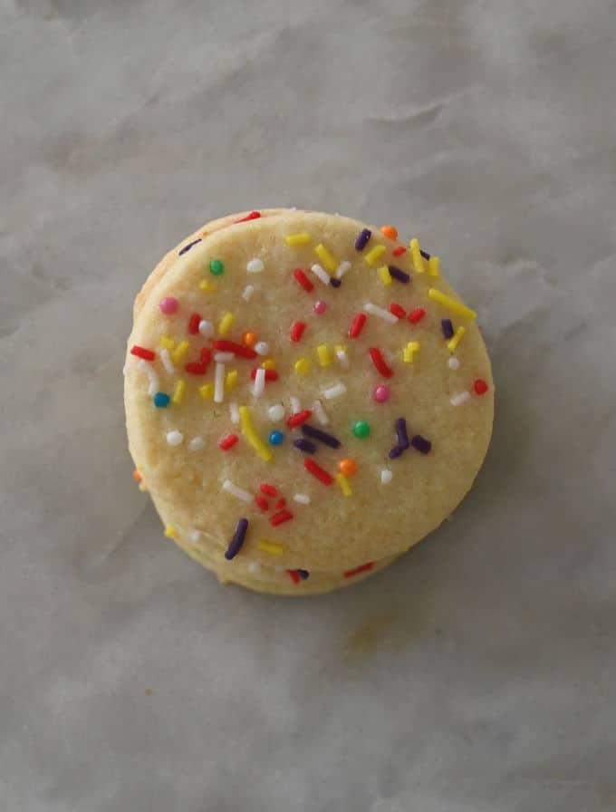 Vanilla Biscuits Top View