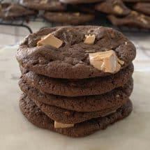 Chocolate Caramilk Biscuits CLose up