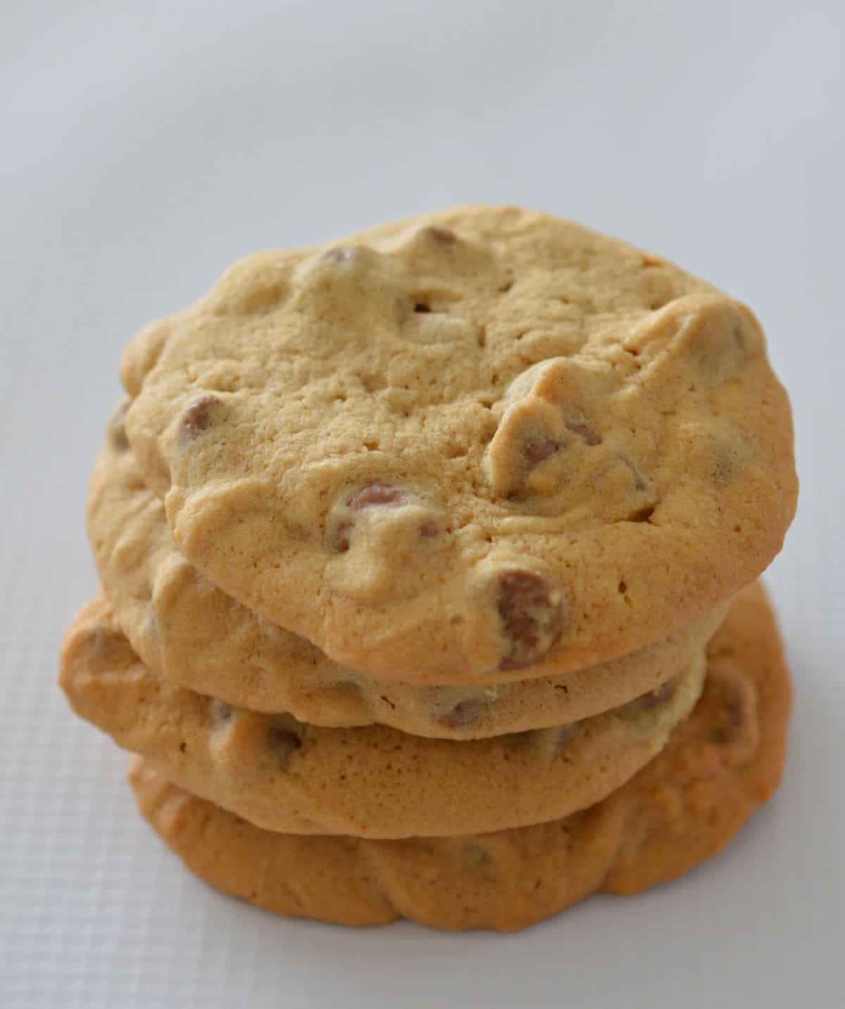 Stack of Chocolate Chip Cookies top view