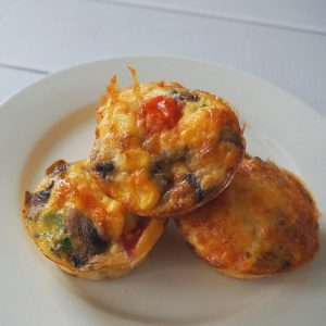 Egg and Vegetable Muffins top view