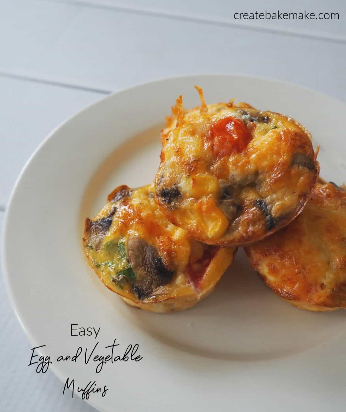 Egg and Vegetable Muffins top side view