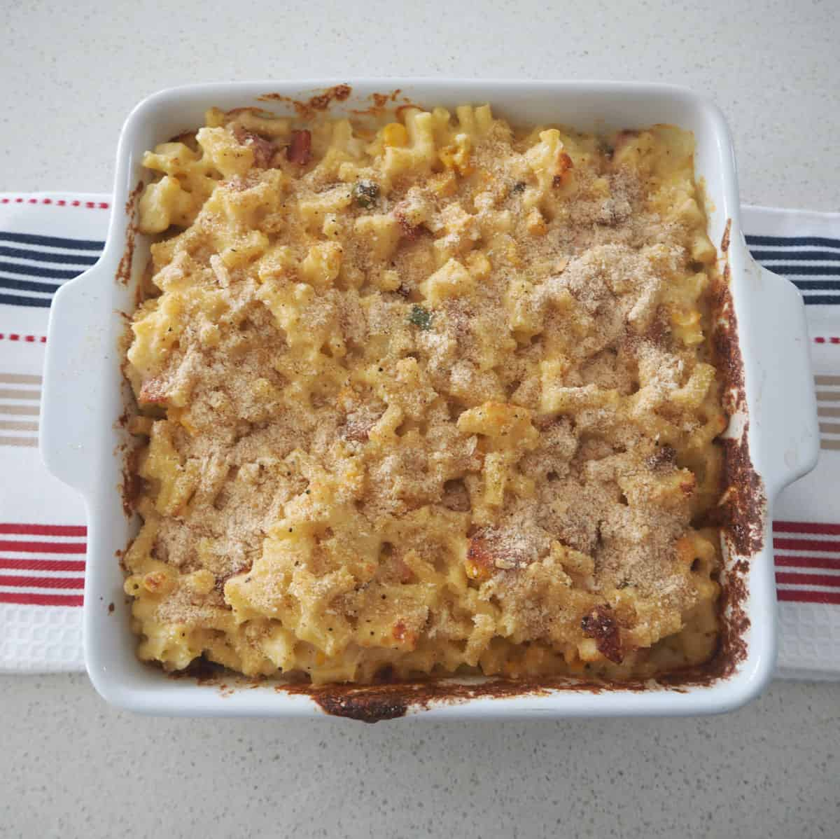 Macaroni and Cheese Top view