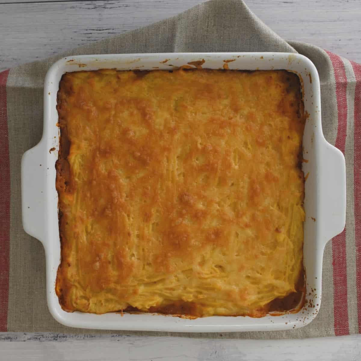 Top view of Vegetarian Shepherd's Pie
