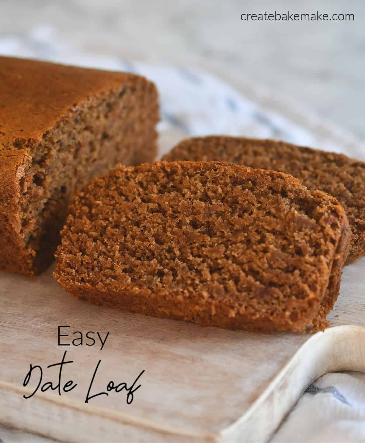 Easy Date Loaf Sliced