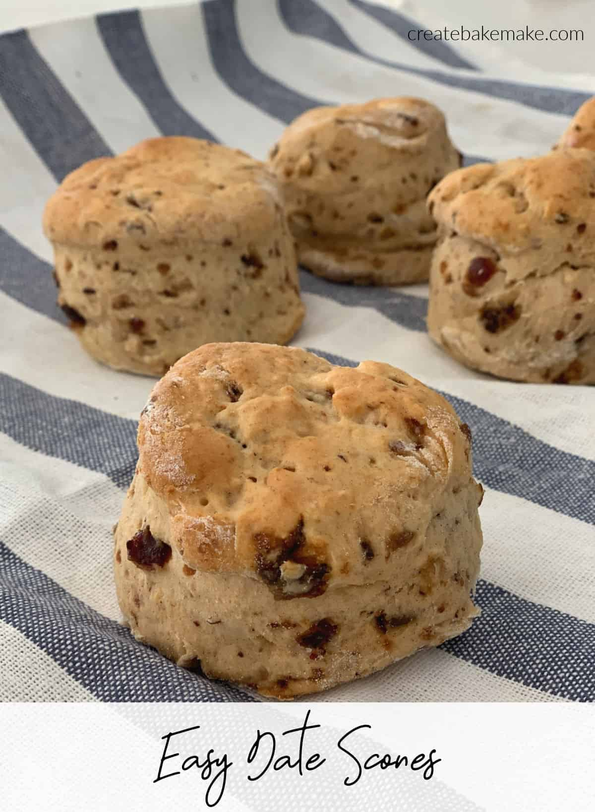 Side View of easy Date Scone