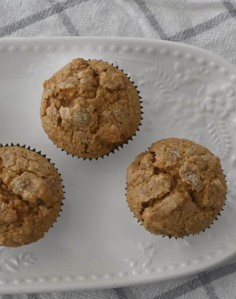 Top view of apple muffins