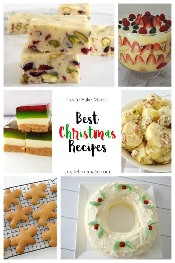 Collage of Christmas Recipes