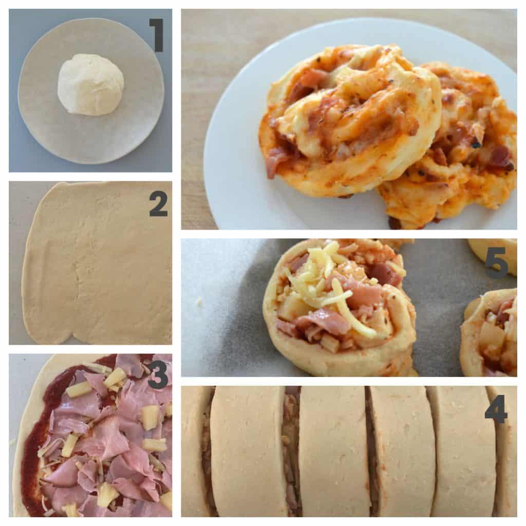 Steps to make Pizza Scrolls