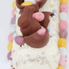 Chocolate Ripple Cake Decorated with Easter Eggs