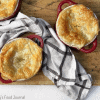 chicken curry pies on board