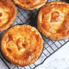 Beef and Mushroom Pies on cooling rack