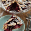 Slice of Apple and Blackberry Pie