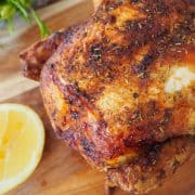 Roast Chicken on wooden board