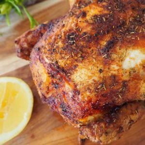 Roast Chicken on wooden board