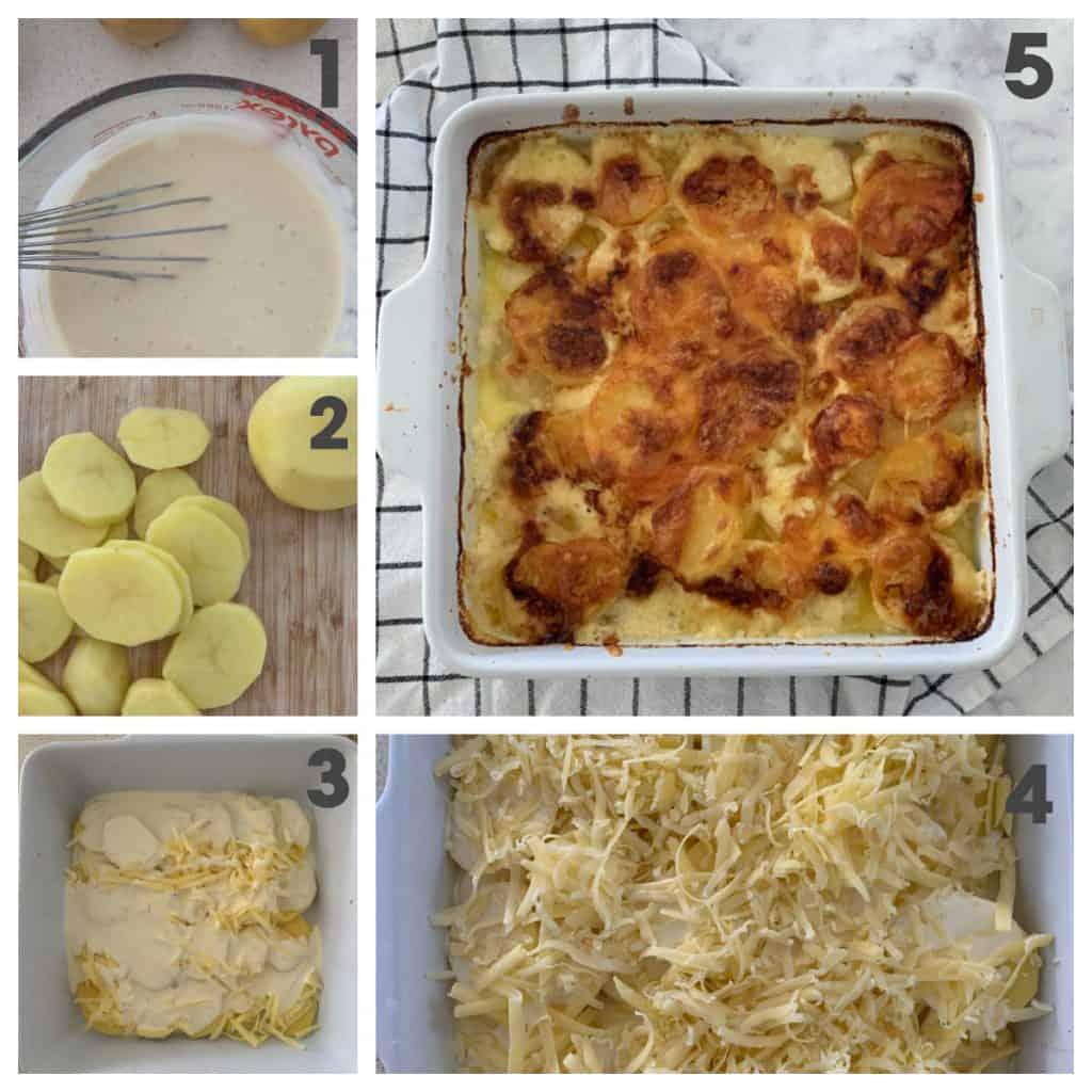 Steps to make Cheesy Potato Bake