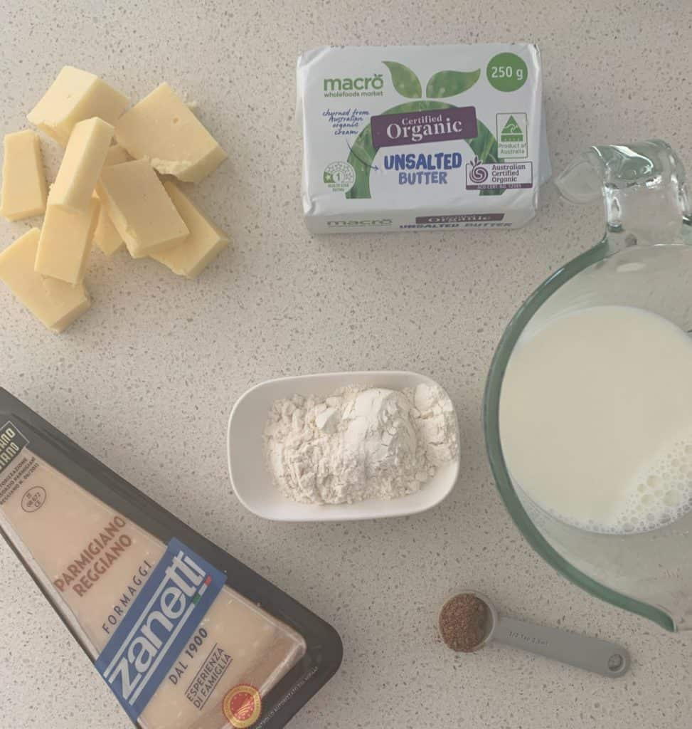 Cheese Sauce Ingredients