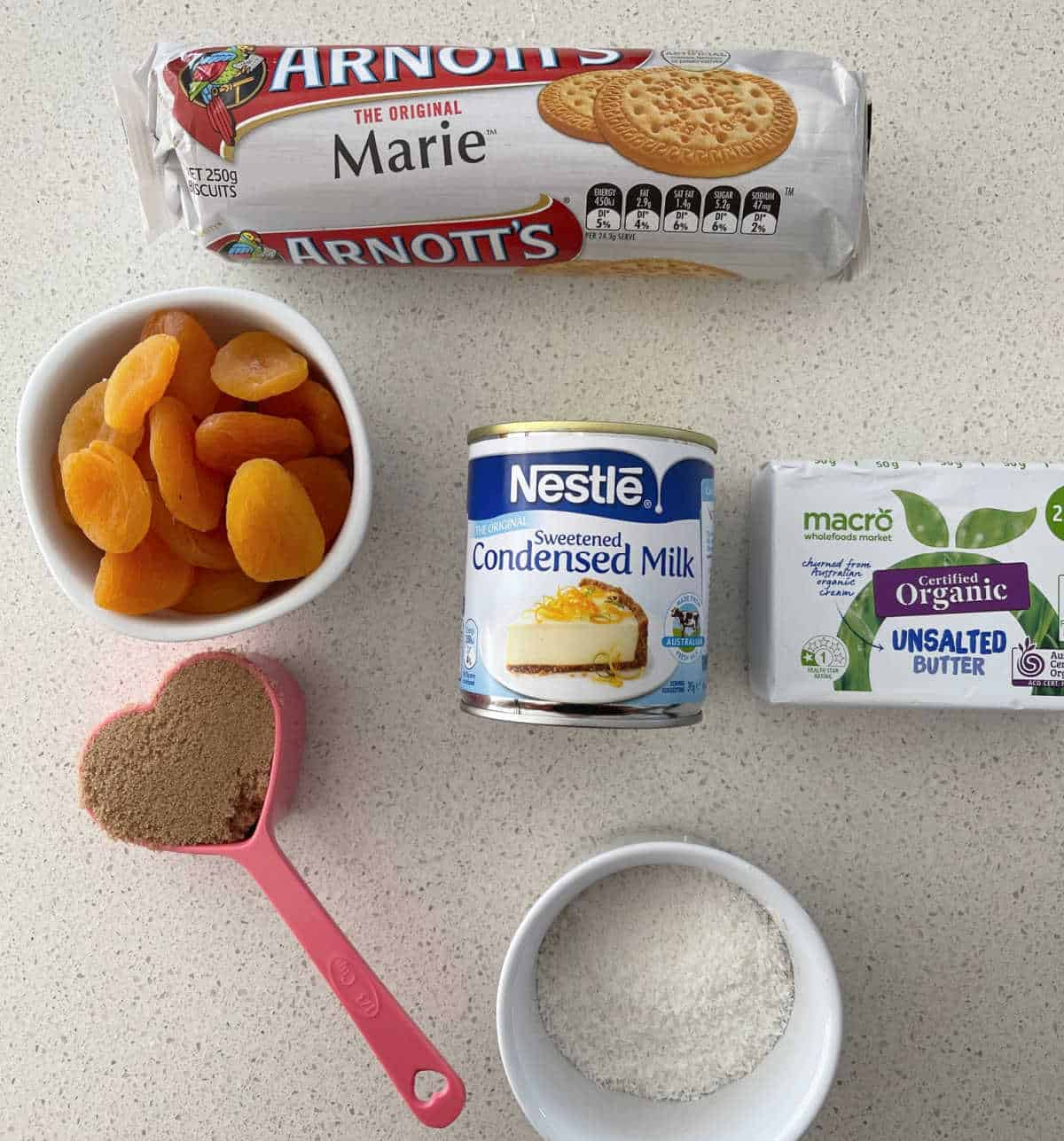 ingredients needed to make apricot slice