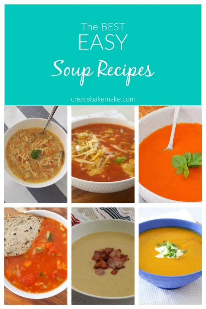 Collage of Soup images that can be made conventionally or using a thermomix