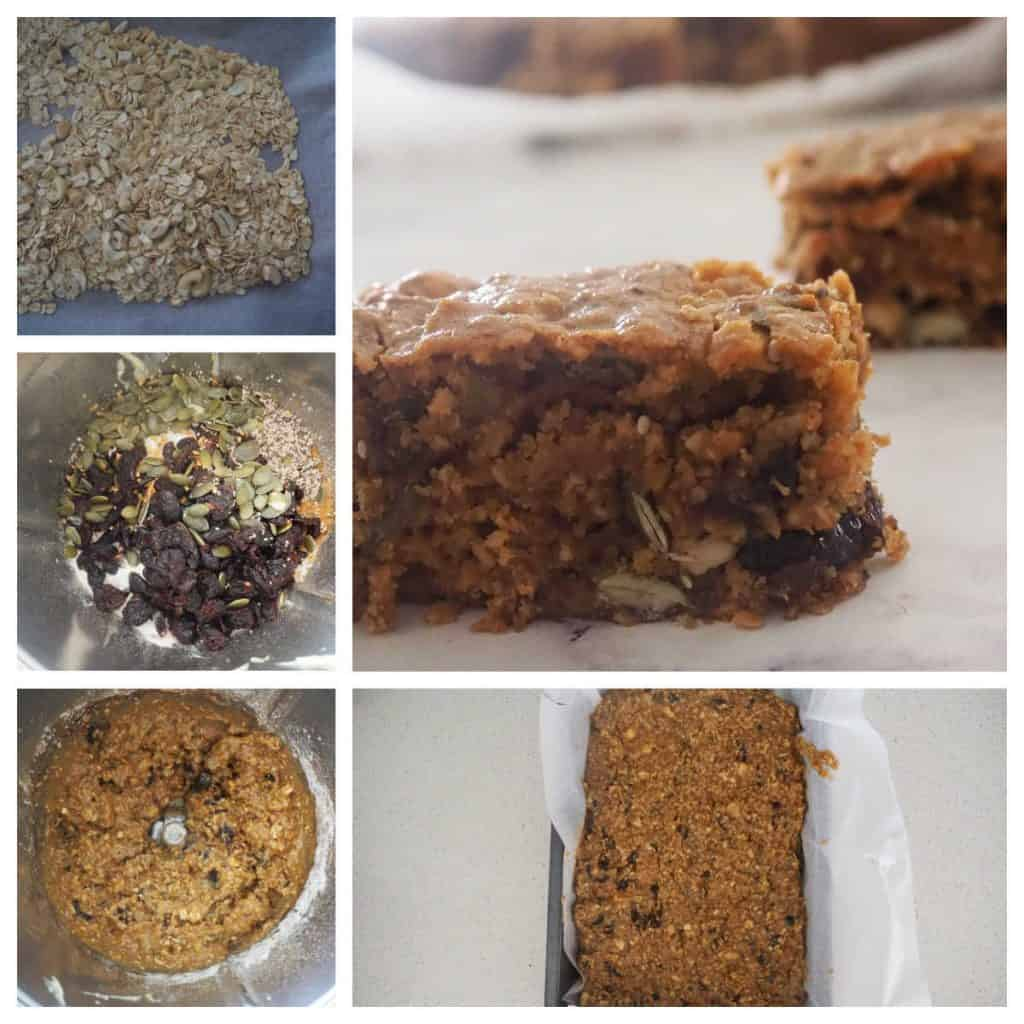 Step by Step to make Oat Slice