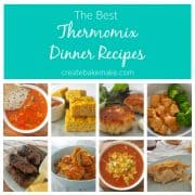 Collage of dinner recipes made in a Thermomix