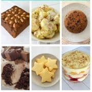 collage of traditional christmas recipes